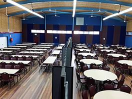 Portable room dividers solve challenge for large hall, small events