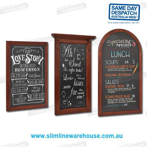 Restaurant Menu & Specials Chalk Black Boards | Slimline Warehouse